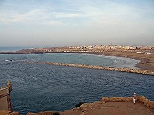 Republic of Salé - The ancient harbor at the Bou Regreg, taken from Salé facing Rabat