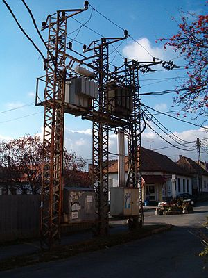 Distribution transformer - Two three-phase transformers in Hungary