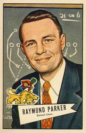 Buddy Parker - Parker on 1952 Bowman football card