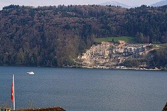 Bollinger Sandstein - Buechberg quarry as seen from Bollingen