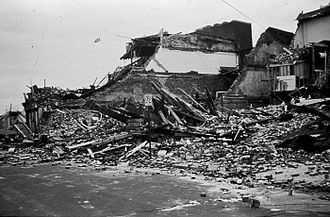 Charleston, South Carolina - Damage left from Hurricane Hugo in 1989