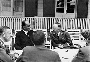 Indian Legion - Subhas Chandra Bose with Heinrich Himmler in mid-1941
