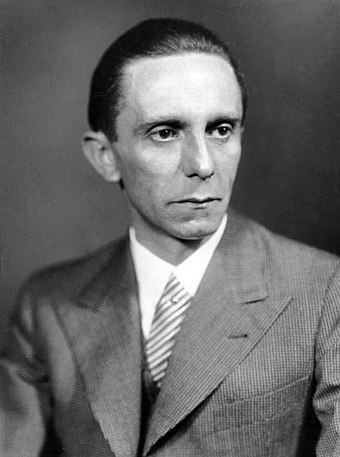 Joseph Goebbels, Reich Minister of Public Enlightenment and Propaganda Bundesarchiv Bild 146-1968-101-20A, Joseph Goebbels.jpg