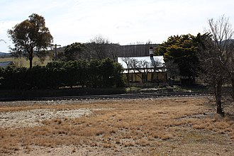 Carwoola - Burbong station house. The railway station was closed in 1975.