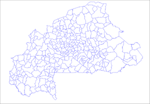 Geography of Burkina Faso - Departments of Burkina Faso