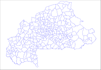Departments of Burkina Faso - The 351 departments (or communes) of Burkina Faso.