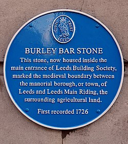 Photo of Burley Bar Stone blue plaque