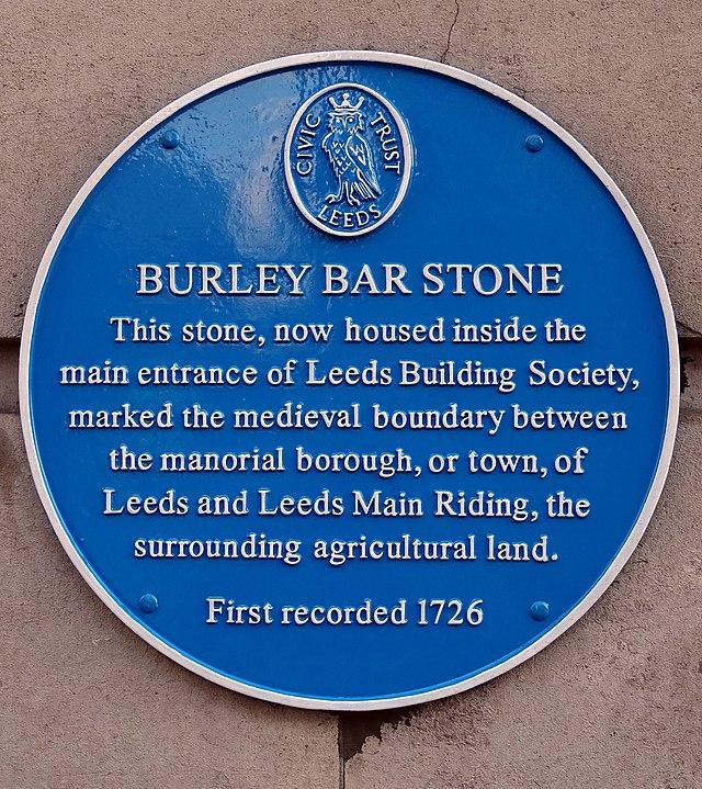 Photo of Burley Bar Stone blue plaque