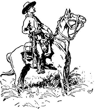 Second Matabele War - Baden-Powell's sketch of Chief of Scouts Burnham, Matobo Hills, 1896.