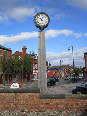 Burscough - Image: Burscough clock tower (3)