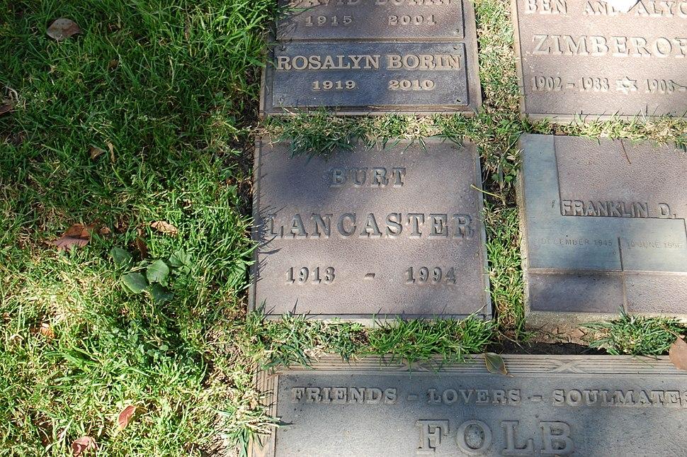 Burt Lancaster grave at Westwood Village Memorial Park Cemetery in Brentwood, California