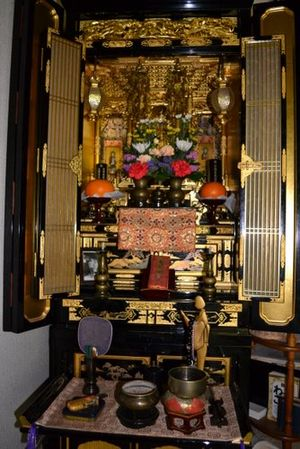 Ie (Japanese family system) - Butsudan used in the ie for ancestor worship and offering