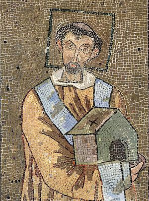 Pope John VII - Byzantine Mosaic of John VII, from about 705