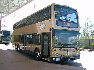 RTC Transit - A 2007 Deuce bus making its first-run debut at the South Strip Transfer Terminal.