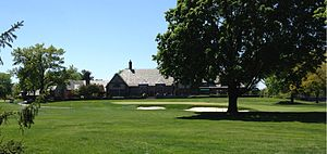 Country Club of Detroit - The clubhouse overlooking the 18th green