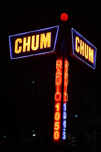 Bell Media Radio - The CHUM neon sign in 2010, relocated to 250 Richmond Street West