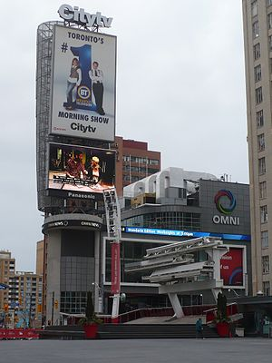 City (TV network) - The CITY/OMNI building 33 Dundas Street East, Toronto