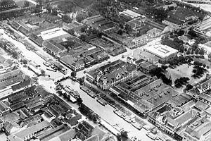 Kali Besar - Aerial picture of Kali Besar in 20th century