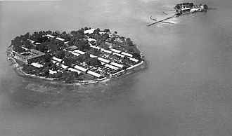 Thousand Islands (Indonesia) - The island Onrust and Kuyper Islands served to quarantine returning Hajj pilgrims in 1925.