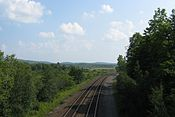 CSX Tracks looking south from MA Route 8, Hinsdale MA.jpg