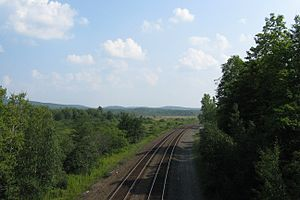 Hinsdale, Massachusetts - CSX tracks looking south from Route 8
