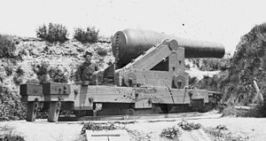 Fort Darling - One of the 8 inch Columbiad guns at Fort Darling