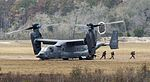 CV-22 Osprey deploys a tactical air control party onto the ground of Grand Bay Bombing and Gunnery Range at Moody Air Force Base (25580004480).jpg