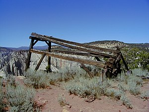 National Register of Historic Places listings in Zion National Park - Image: Cable Mountain Draw Works NPS