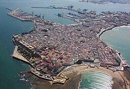 Vy over den centrale Cádiz.