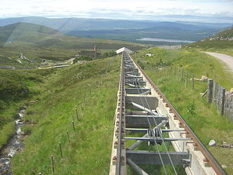Cairn Gorm - The funicular track