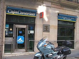 Savings bank (Spain) - Caja General de Ahorros de Canarias in Barcelona.