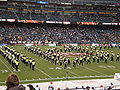 Cal Band performing pregame at 2008 Emerald Bowl 09.JPG