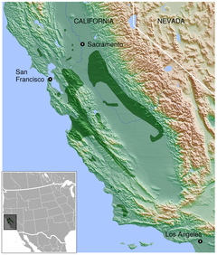 California Tiger Salamander Ambystoma californiense distribution map 3.png