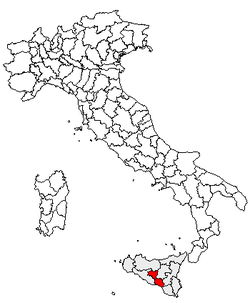 Location of Province of Caltanissetta