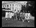 Calvin Coolidge and group of children outside White House, Washington, D.C. LCCN2016894310.jpg