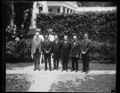 Calvin Coolidge and group outside White House, Washington, D.C. LCCN2016888848.tif