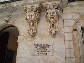 Mascaron (architecture) - Mascarons, Cadiz, Spain