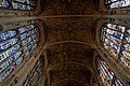 Cambridge - King's College Chapel 1446-1544 - Antechapel - View Up on Fan Vaults, Stained Glass & Tudor Roses I.jpg