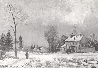 The Post-House, the Route de Versailles, Louveciennes, Snow
