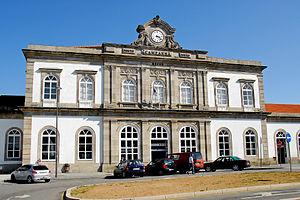 Campanhã railway station - The 18th century facade of the railway station in Campanhã