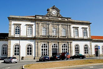 Campanhã railway station - The 18th century facade of the railway station in Campanhã