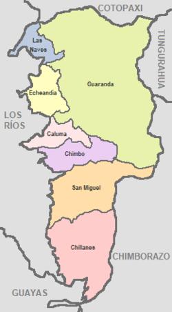 Bolívar Province Ecuador Wikipedia - Ecuador provinces map