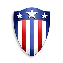 ea0a71db58307 Representación del escudo que porta el Capitán América aparecido en el  número 1 de la serie