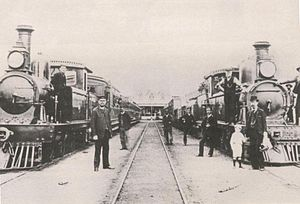 Cape Government Railways - A photograph of the Port Elizabeth – Uitenhage railway line in 1877