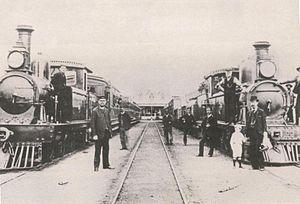 Cape Government Railways - A photograph of the Port Elizabeth – Uitenhage railway line in 1877