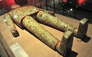 Hun and po - Jade burial suits were believed to delay the bodily po soul's decomposition.