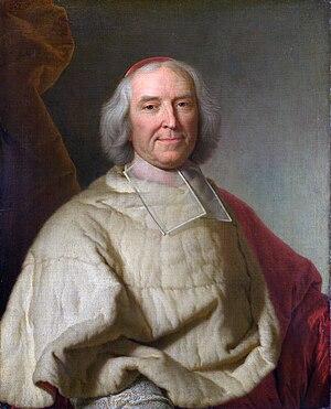 André-Hercule de Fleury - Cardinal de Fleury, official portrait by Hyacinthe Rigaud, Château de Versailles.