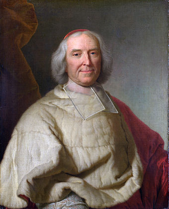 Cardinal Fleury, chief minister of France 1723 to 1743; he viewed the Jacobites as an ineffective weapon for dealing with British power Cardinal de Fleury by Rigaud.jpg