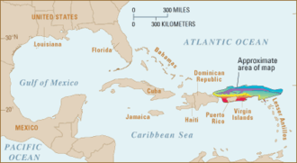 Puerto Rico Trench - Location map Puerto Rico trench—United States Geological Survey