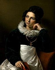 Rosalia Klieber, die Gattin des Bildhauers Josef Klieber